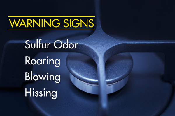 Natural gas leak warning signs